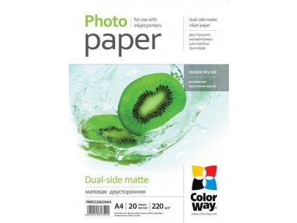 Fotopapier CW Matný obojstranný 220g/m²,20ks,A4