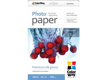 Fotopapier CW Super lesklý hodváb 260g/m?,50ks,10x15