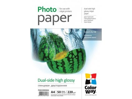 Fotopapier CW Vysoko lesklý obojstranný 220g/m2,50ks,A4