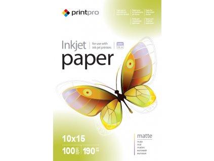 Fotopapier PrintPro matný 190g/m²,100ks,10x15