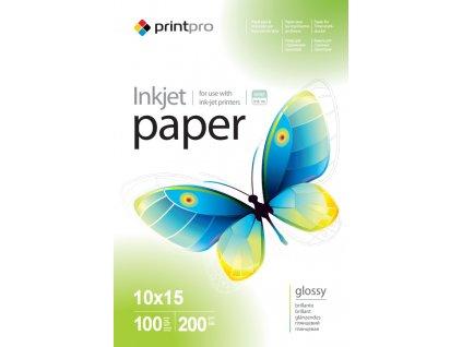 Fotopapier PrintPro Vysoko lesklý 200g/m²,100ks,10x15