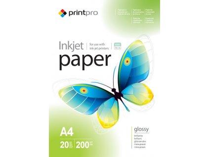 Fotopapier PrintPro Vysoko lesklý 200g/m?,20ks,A4