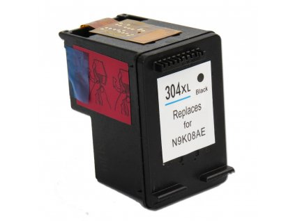 hp no.304xl cierna black alternativna lacna kompatibilna napln tinta.sk