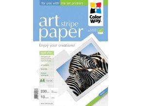 """Fotopapier CW ART Lesklý """"Stripe"""" 230g/m?,10ks,A4"""