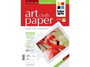 "Fotopapier CW ART Matný ""Cloth"" 220g/m?,10ks,A4"