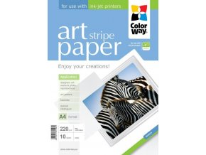 "Fotopapier CW ART Matný ""Stripe"" 220g/m?,10ks,A4"
