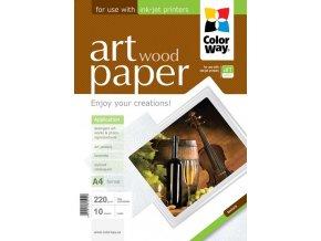 """Fotopapier CW ART Matný """"Wood"""" 220g/m?,10ks,A4"""