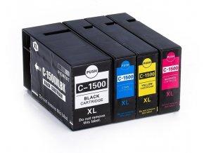 canon pgi1500xl sada bk cyan magenta yellow kompatibilna lacna tinta.sk