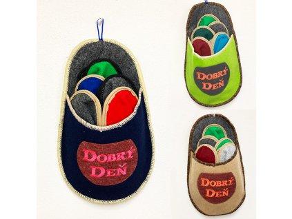 papuce pre hosti 5 parov