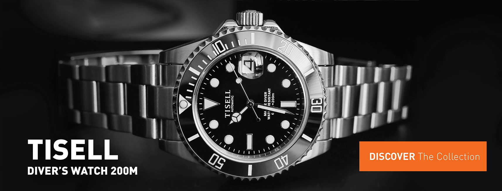 Tisell Diver Black with Date