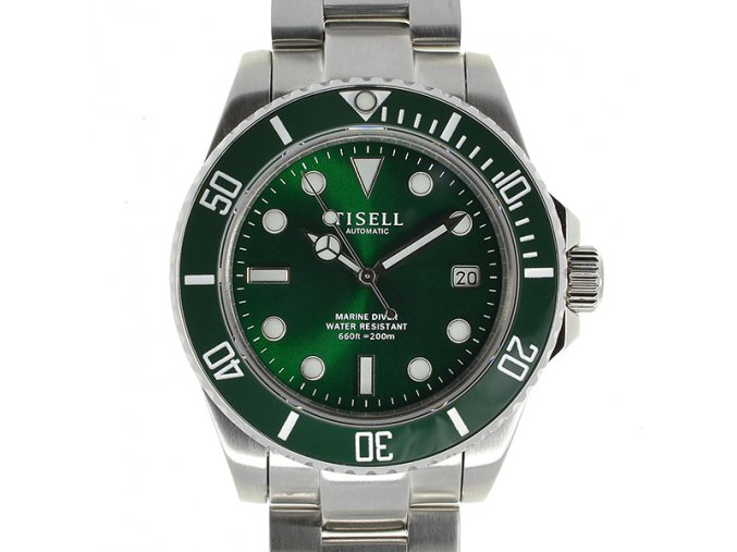 TISELL Automatic Diver Watch Green date 40 mm