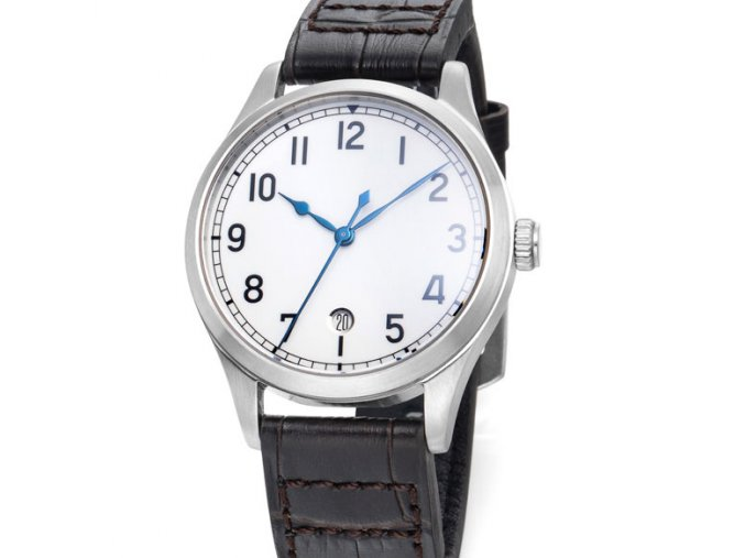 TISELL Marine Watch White Dial Date