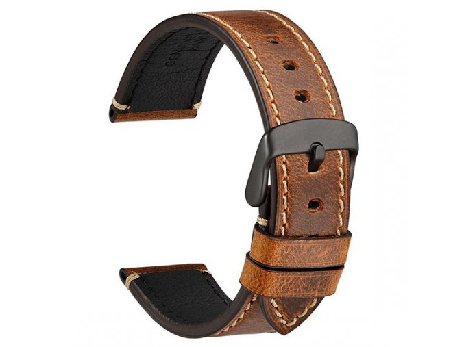 437 2 crazy horse brown leather watch strap