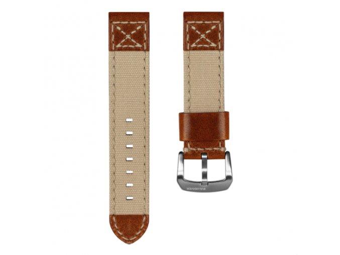 Canvas Denim Vintage Italian Leather Watch Strap