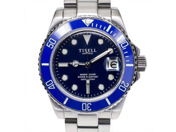 TISELL Automatic Diver Watch Blue 40 mm