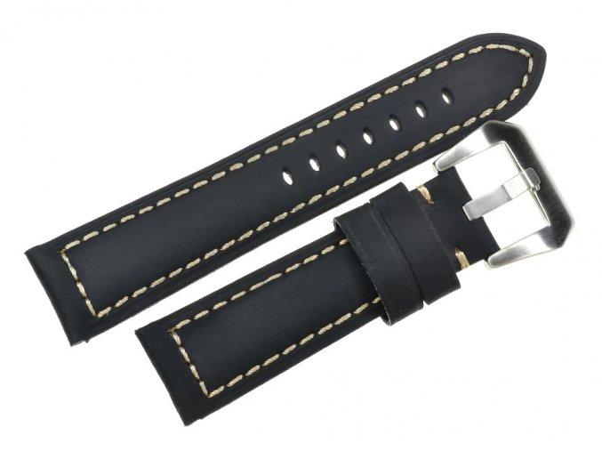 Vintage Black LEATHER WATCH STRAP