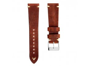 SIMPLE HANDMADE ITALIAN LEATHER REDDISH BROWN