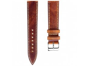 HANDMADE ITALIAN LEATHER STRAP Reddish Brown