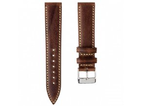 HANDMADE ITALIAN LEATHER STRAP Chocolate Brown