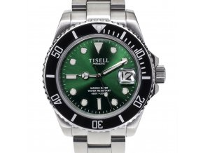 TISELL Automatic Diver Watch Black-Green 40 mm