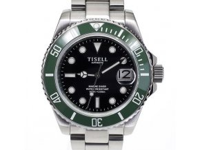 TISELL Automatic Diver Watch Green-Black 40 mm
