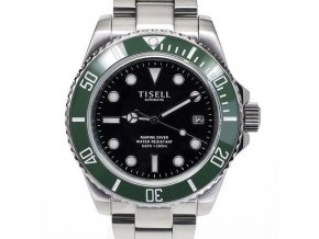 TISELL Automatic Diver Watch Green-Black date 40 mm
