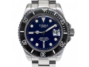 TISELL Automatic Diver Watch Black Blue 40 mm