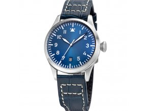 TISELL Pilot Watch 40 mm Blue Date