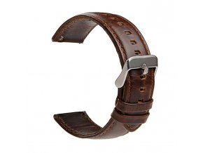 Crazy Horse Dark Brown Leather Watch Strap