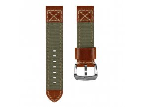 Canvas Denim Vintage Italian Leather Watch Strap