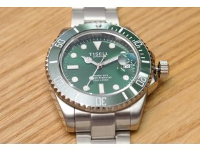 TISELL Automatic Diver Watch Green 40 mm