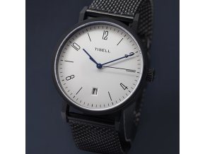 TISELL Automatic Watch No.9015 Bauhaus Design 38 mm case PVD Black