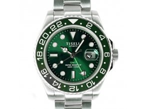 TISELL Automatic Diver Watch 40 mm, GMT Green Shop