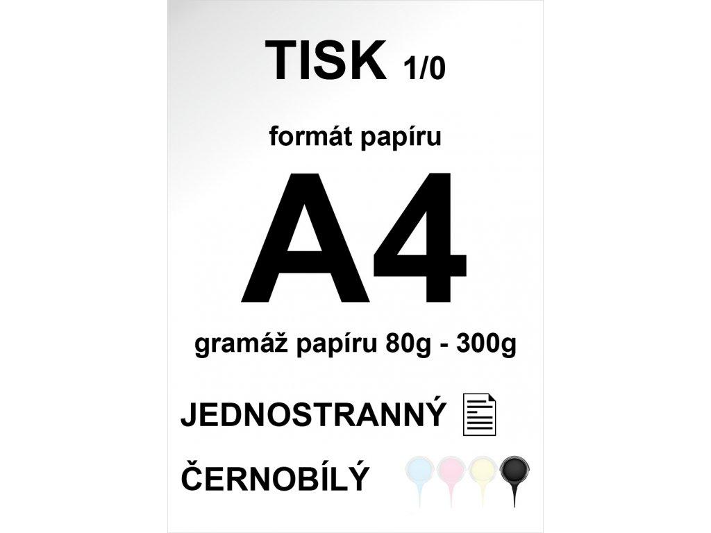 01 - Tisk černobílý A4 jednostranný matný papír
