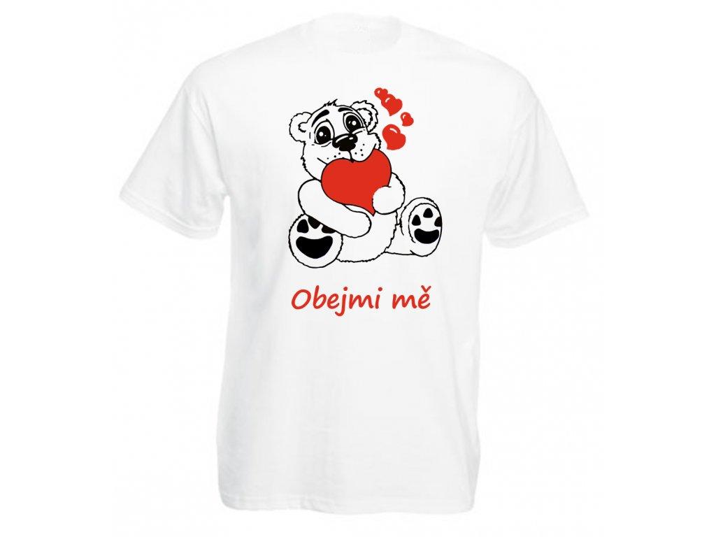 Reklama tričko medvídek bílé