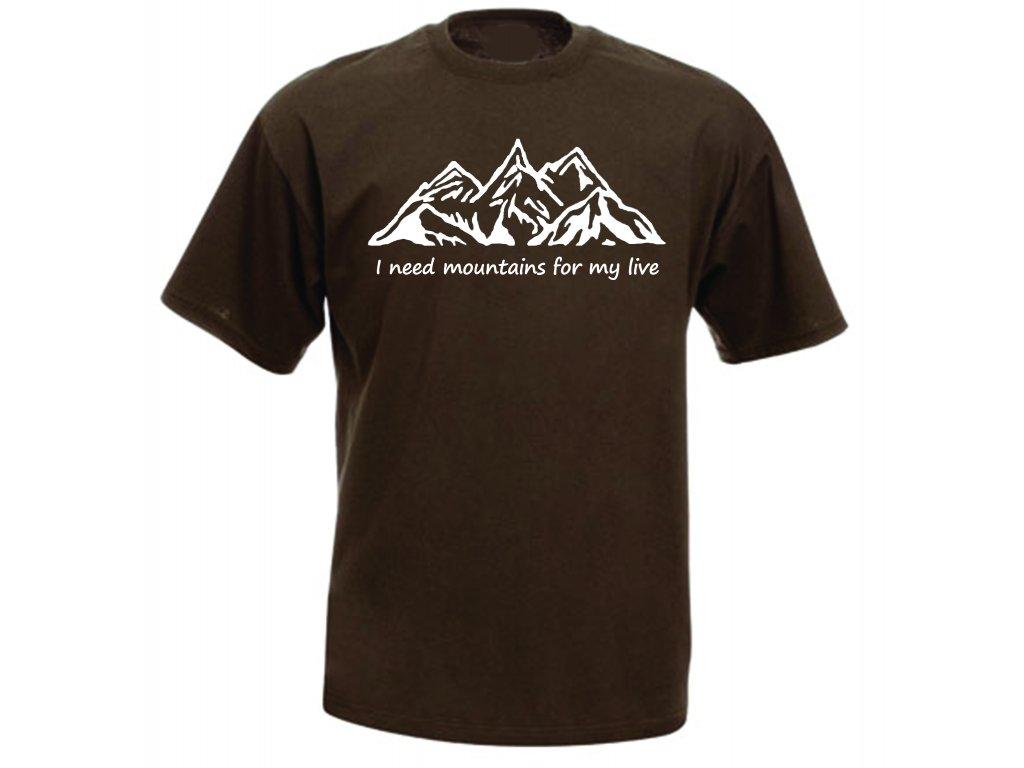Reklama tričko I need mountains