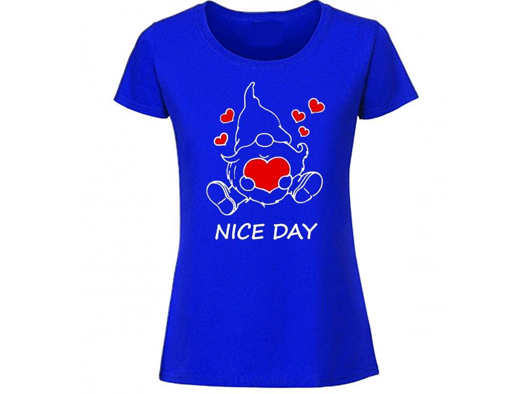 Reklama tričko skřítek nice day modré
