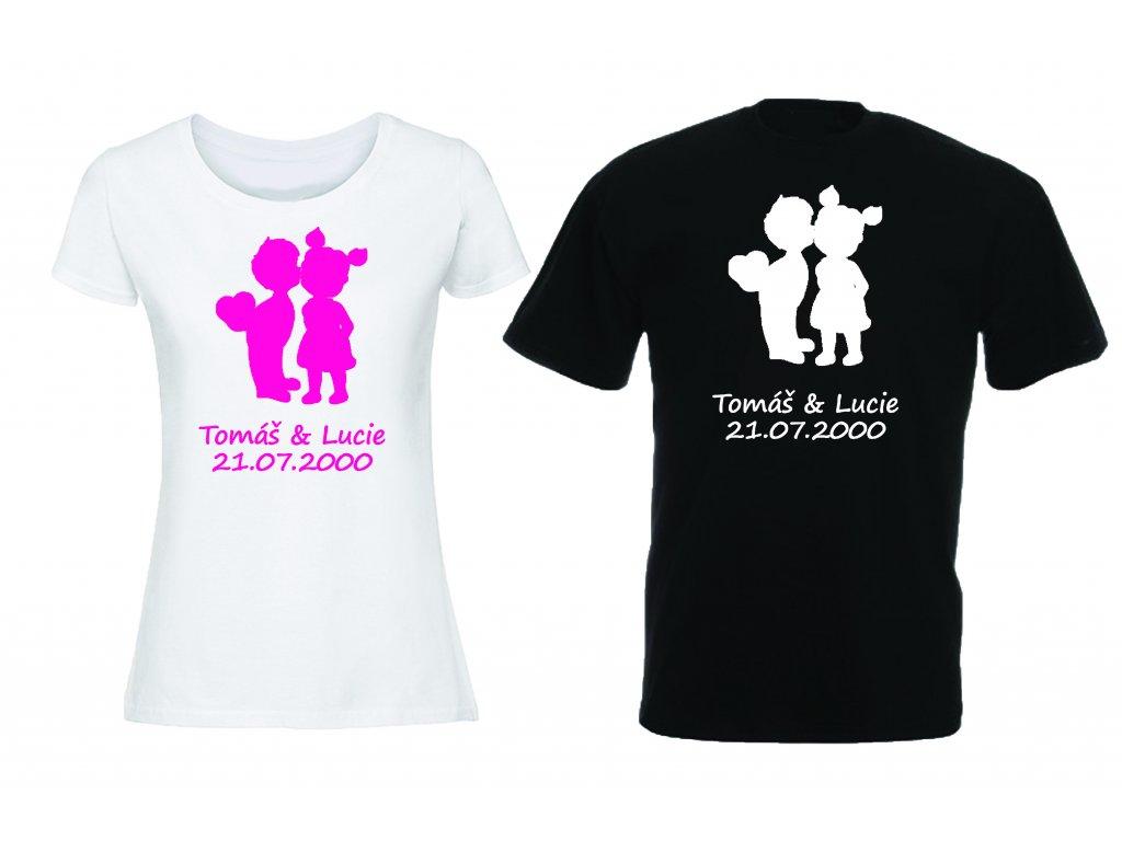 Reklama tričko děti svatba sada