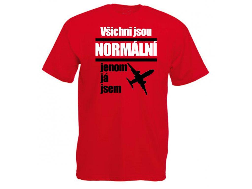 Reklama tričko všichni jsou normánlí