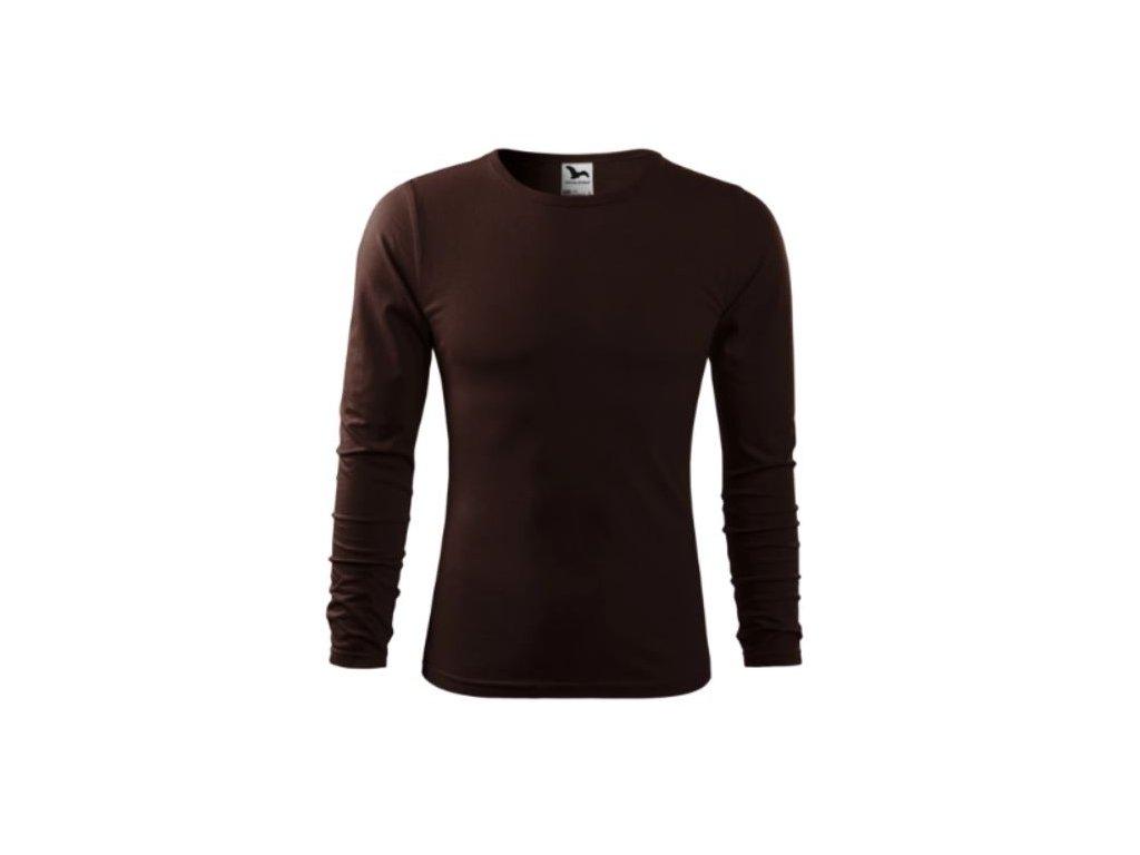 Pánské triko dlouhý rukáv 119 tm. hnědá
