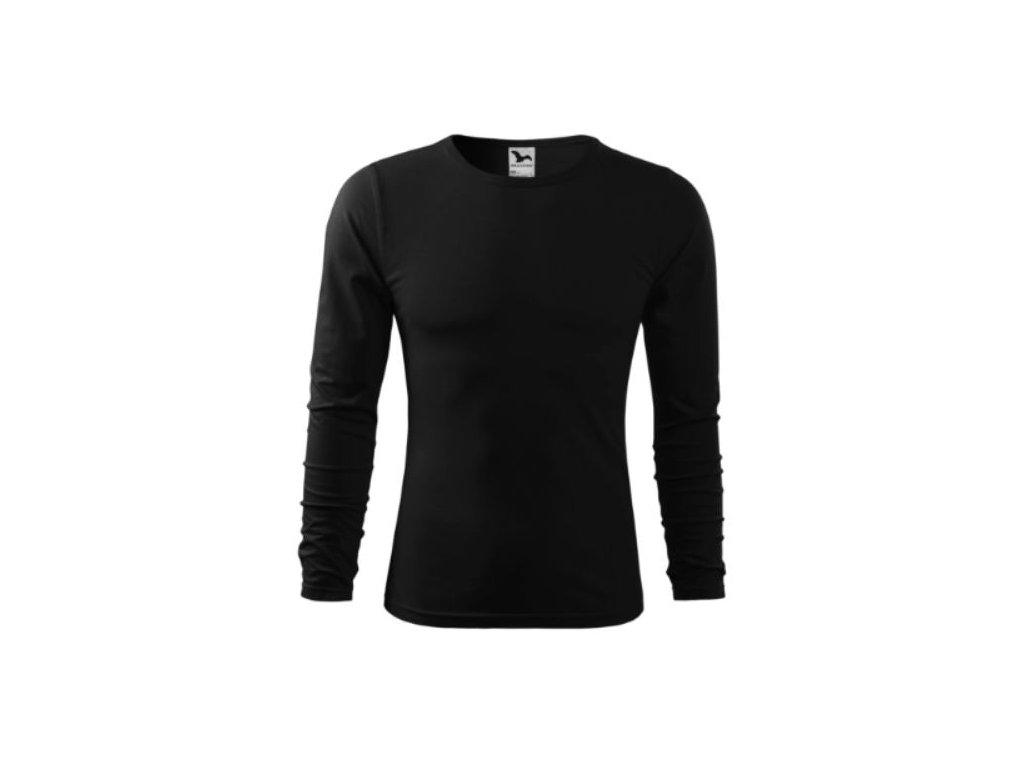 Pánské triko dlouhý rukáv 119 černá