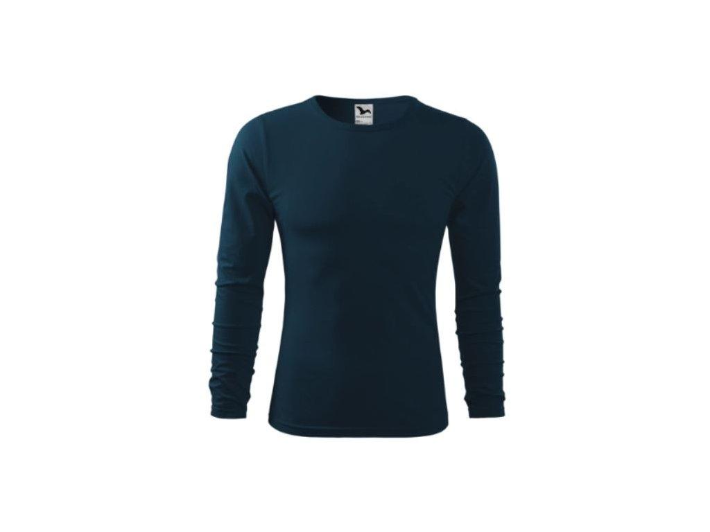 Pánské triko dlouhý rukáv 119 námořní modrá