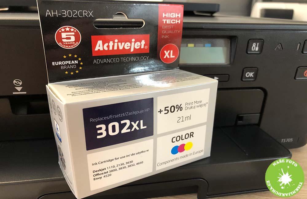 barevná náplň do tiskárny hp 302