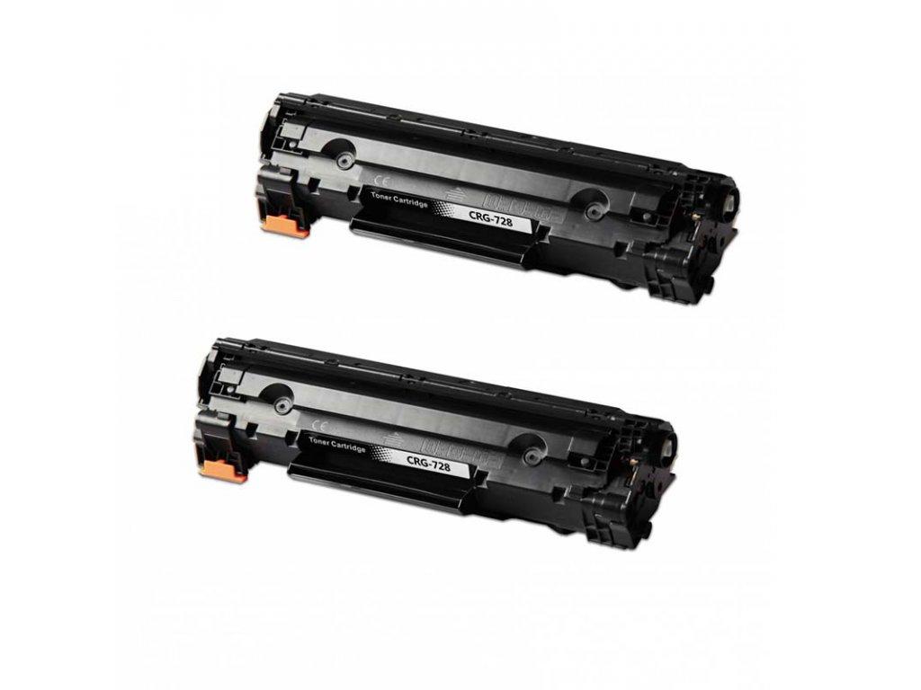 2X toner Canon CRG-728 - kompatibilní