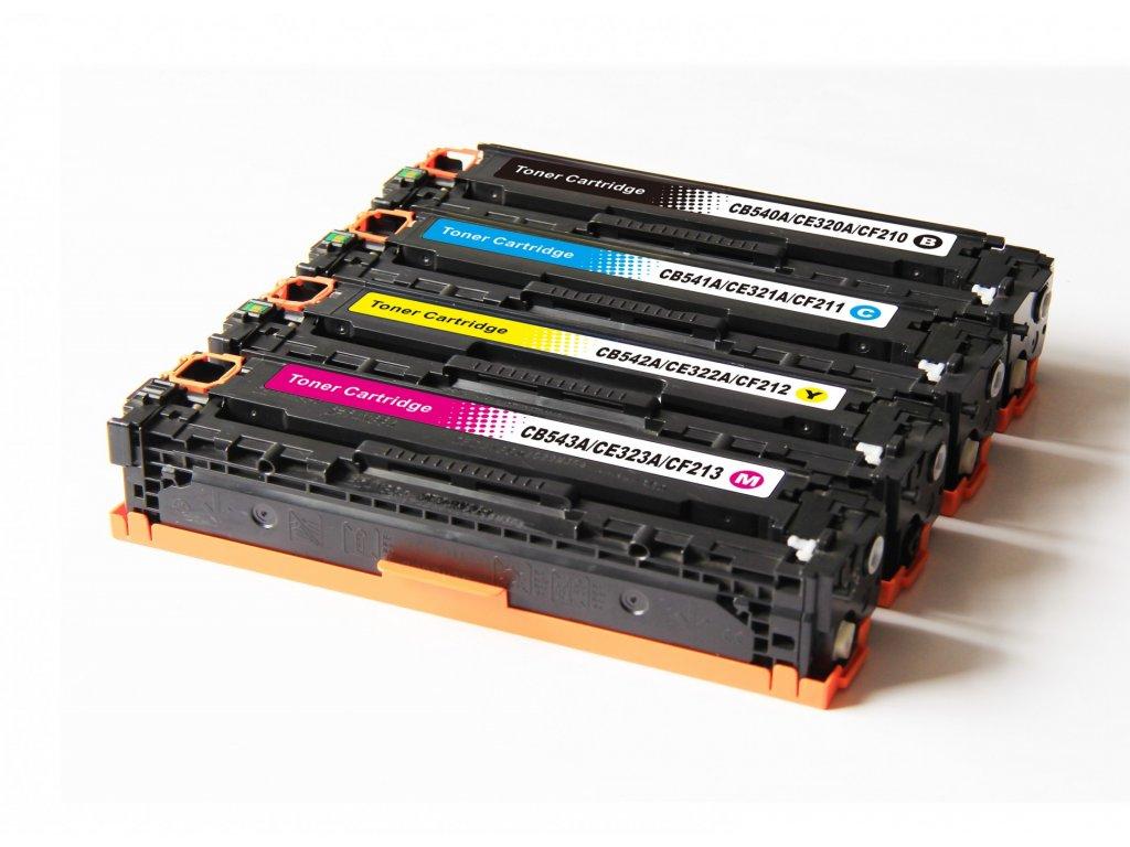 HP CB540-3A - kompatibilní sada tonerů HP