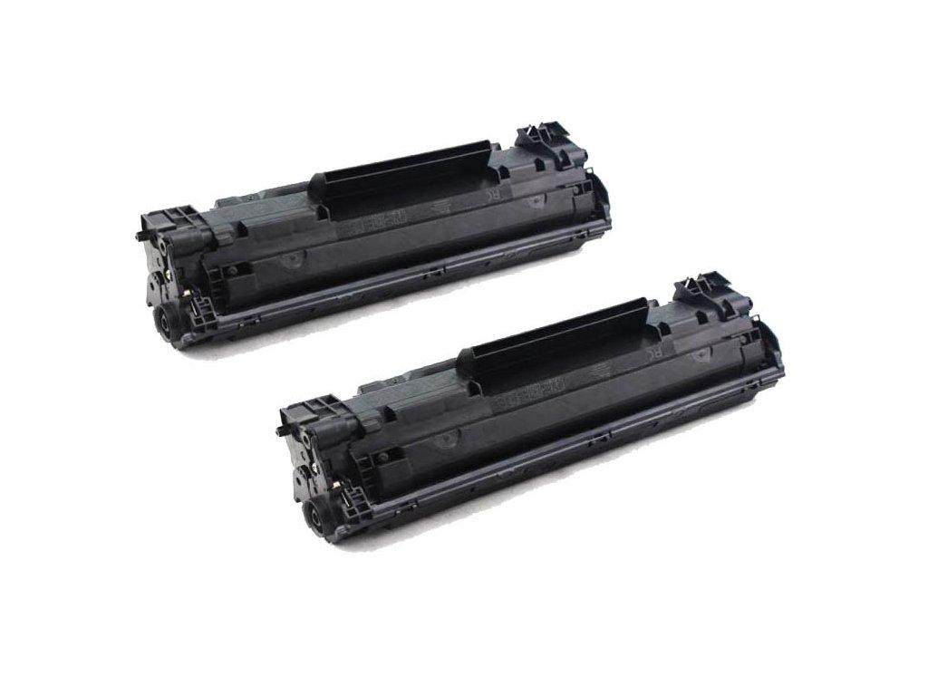 2x toner HP CB436A - kompatibilní