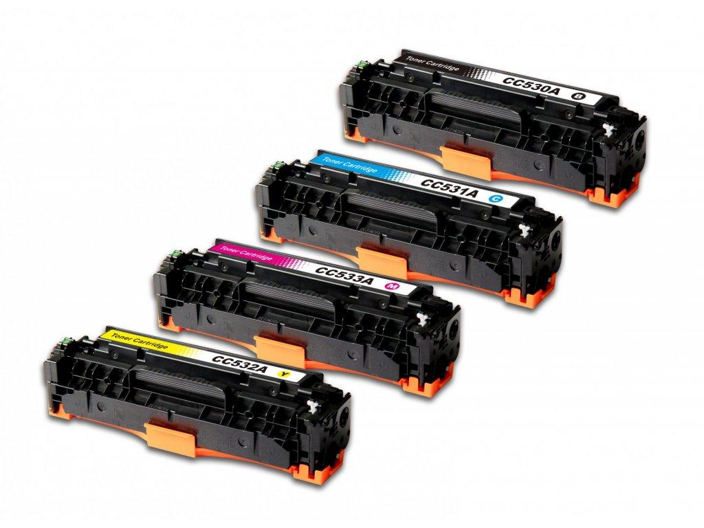 Sada tonerů HP CC530-3A - kompatibilní