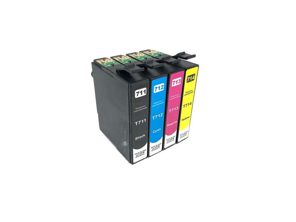 Náplně Epson T0715 cmyk - kompatibilní