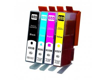 2x HP 655 Multi pack - kompatibilní