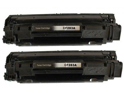 2x toner HP CF283A - kompatibilní